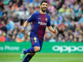 Suarez netted the first goal of the game. AFP