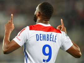Moussa Dembele gave Lyon an important victory in Bordeaux. AFP