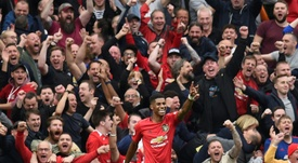 Rashford hit a double in United's 4-0 win over Chelsea at Old Trafford. AFP