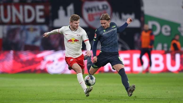Werner se está acercando al Liverpool. AFP