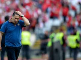 Portos then coach Jose Peseiro reacts during the Portuguese Cup final football match against SC Braga on May 22, 2016