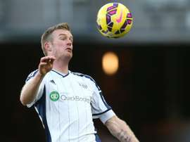 West Bromwich Albions midfielder Chris Brunt, pictured on February 21, 2015, has ruptured the anterior cruciate ligament in his right knee