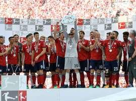 Bayern claimed their sixth successive Bundesliga title. AFP