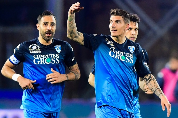 Empoli are back in Serie A. AFP
