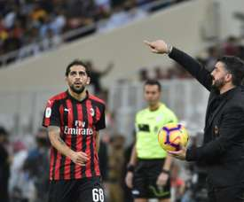 Gattuso has picked up a touchline ban. AFP