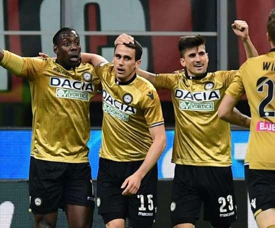 Lasagna (C) could move to Inter. AFP