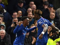 Hudson-Odoi and Abraham got on the scoresheet in Chelsea's win over Burnley. AFP