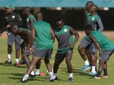 Senegals national football team players take part in a training session on January 4, 2017, at the Leopold Sedar Senghor stadium in Dakar, during preparations for the upcoming 2017 Africa Cup of Nations in Gabon