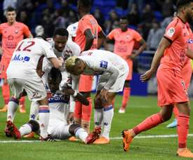 Traore got the only goal of the game in Lyon's win. AFP