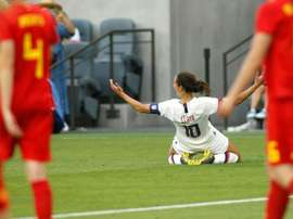 Carli Lloyd for the USA. AFP