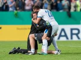 El Sportfreunde Lotte ya está en cuartos contra todo pronóstico. AFP/Archivo