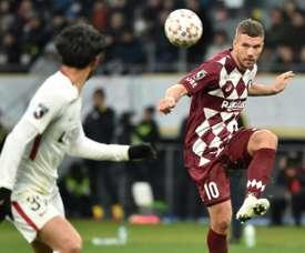 Podolski não está mais nos planos do Boca Juniors. AFP