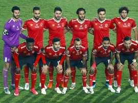 Al Ahly pose before defeating fellow Egyptian club Zamalek. AFP