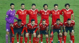 Al Ahly pose before defeating fellow Egyptian club Zamalek. AFP