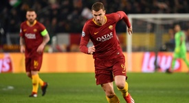 Dzeko could be on his way to London. AFP