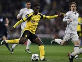 Ousmane Dembelé es el mejor futbolista de Europa Sub 20 según 'La Gazzetta'. EFE/Archivo