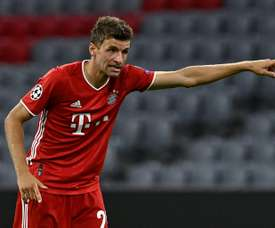 Thomas Muller and his Bayern teammates must get used to the hot weather in Portugal. AFP