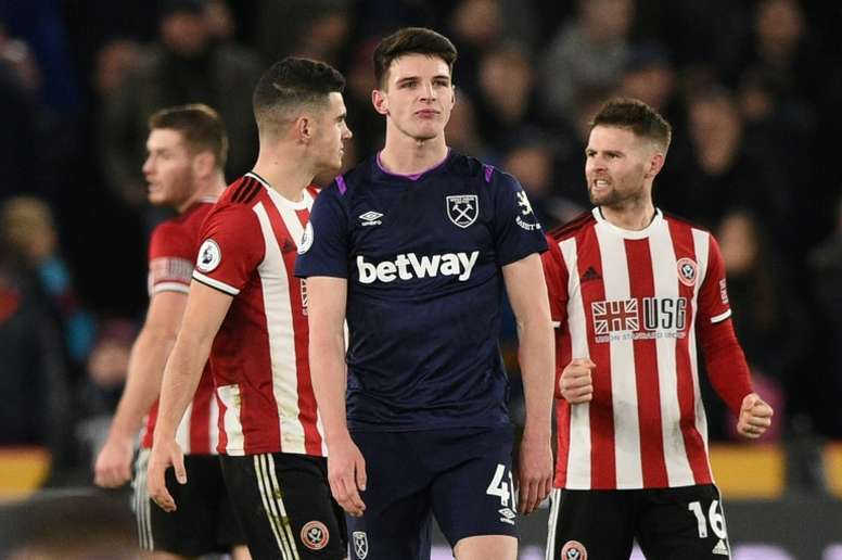 Declan Rice is Manchester United's main aim. AFP