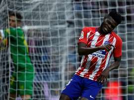Thomas Partey has penned a new contract for Atletico. AFP
