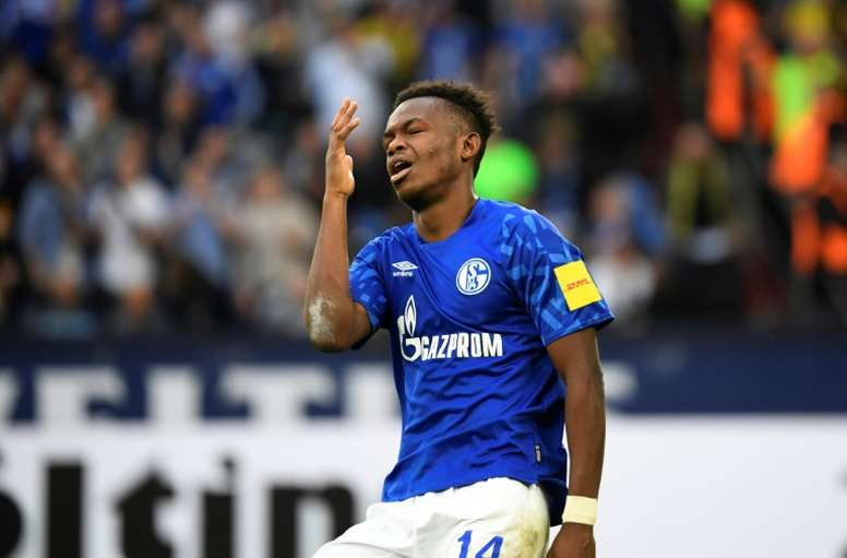 'I was naive', Schalke's Matondo sorry for wearing Dortmund shirt. AFP