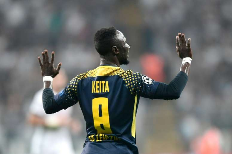 Keita restera Leipzig jusqu'à la fin de la saison. AFP