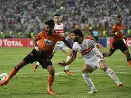 Renaissance Berkane (L) are have to make up a two goal deficit v Fosa Juniors. AFP