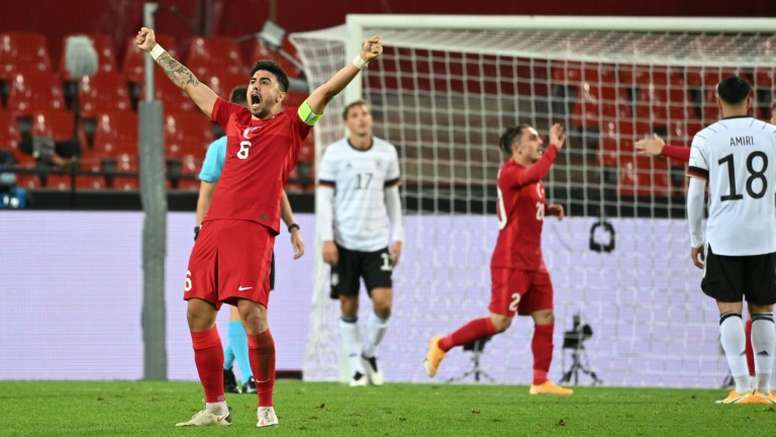 Germany drew 3-3. AFP