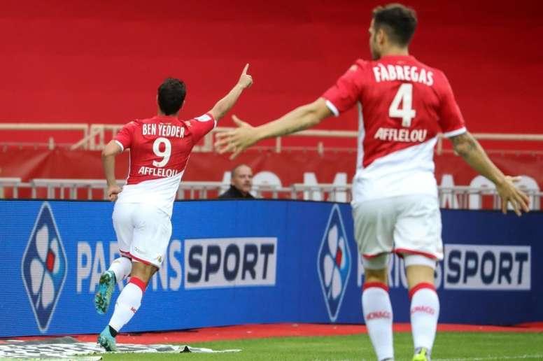 Wissam Ben Yedder sale a un gol por partido en el Mónaco. AFP