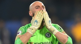 Willy Caballero poursuit l'aventure avec Chelsea. AFP