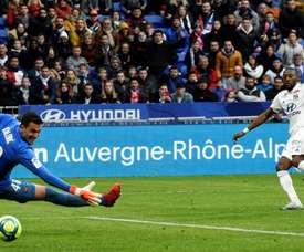 Toko Ekambi scores on Lyon debut as clubs remember Sala. AFP