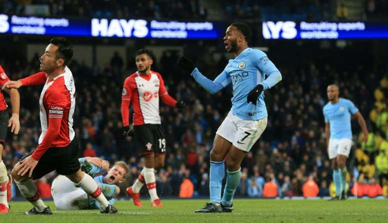 Sterling broke Saints' hearts with a goal at the death at the Etihad earlier this season. AFP