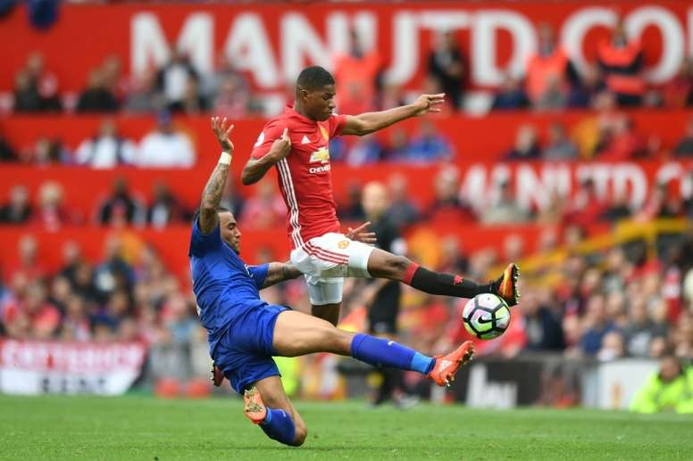Manchester United affronte Leicester. AFP