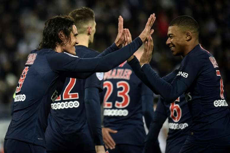 PSG's big stars recovered the side's winning form. AFP