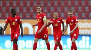 Werner se despidió del RB Leipzig a lo grande. AFP
