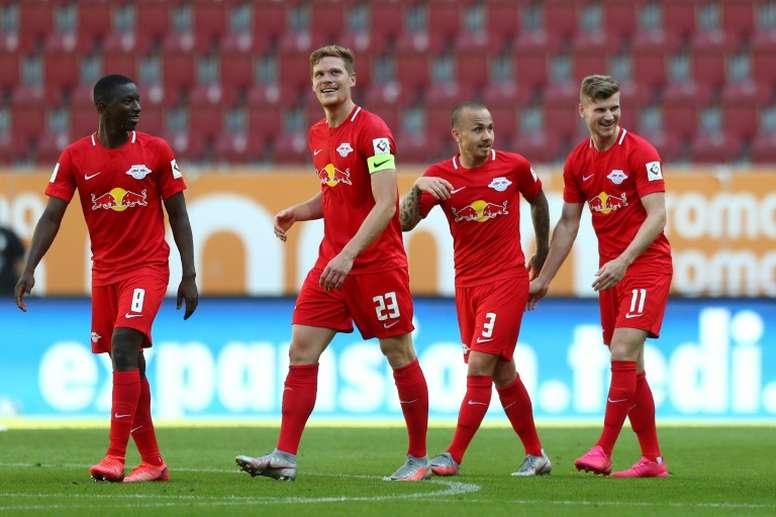 Werner said goodbye to RB Leipzig in style. AFP
