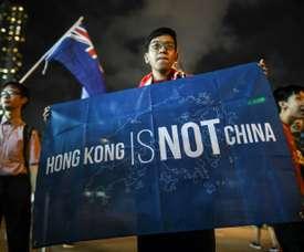 Tensions between China and Hong Kong remain. AFP