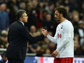 Gabbiadini se lanzó a jugar fuera de Italia en enero para marcharse al Southampton. EFE/AFP/Archivo