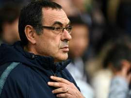 Chelsea Manager Sarri has concern over his team's temperament. AFP