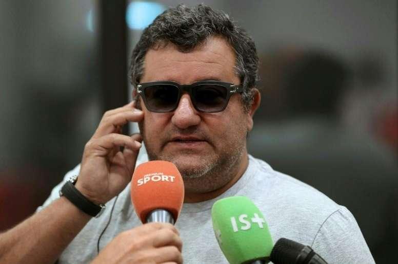 Mino Raiola has had been ban from football overturned. AFP