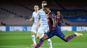 Le Barça a déjà des idées pour le nouveau Ansu Fati de la Masia. AFP