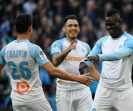 Balotelli and Thauvin were both on target in Marseille's 2-0 win. AFP