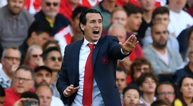 Emery was pleased wth his team for coming back from 0-2 down to get a draw. AFP