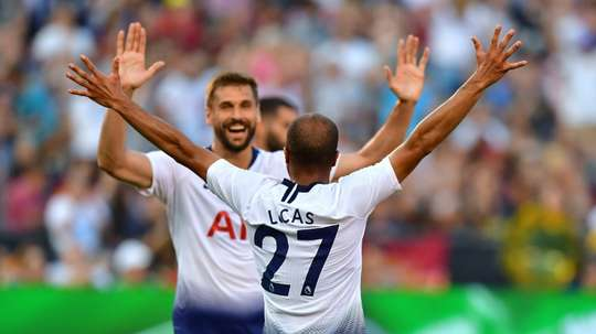 Lucas has started the season impressively with Tottenham. AFP