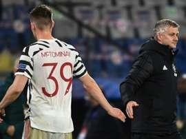 Manchester United boss Ole Gunnar Solskjaer (right) is under pressure at Old Trafford. AFP