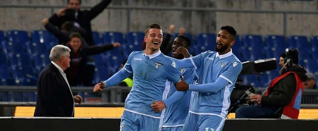 A Lazio segue a sua excelente campanha nesta edição da Serie A. AFP
