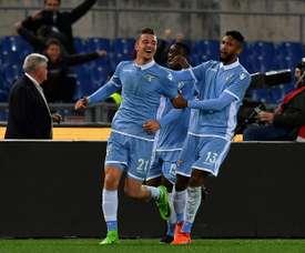 A Lazio venceu na visita ao Bologna, por 1-2. AFP