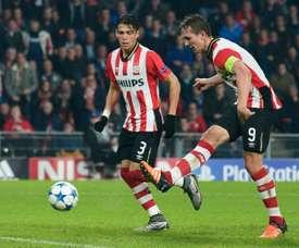 Luuk De Jong marcó el camino de la victoria en Breda. AFP/Archivo
