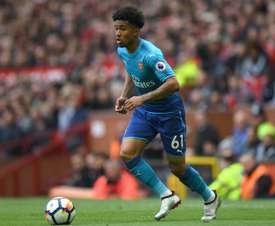 Reiss Nelson podría dar el salto al Arsenal en la próxima temporada. AFP