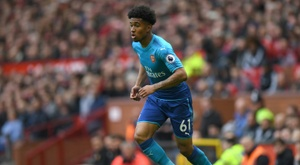 Reiss Nelson joined Hoffenheim in August on loan from Arsenal. AFP