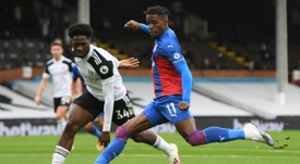 Wilfried Zaha has been praised by Crystal Palace manager Roy Hodgson. AFP